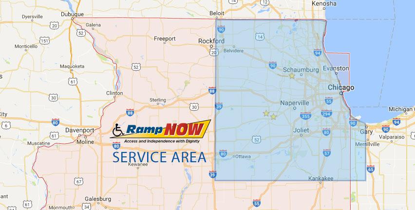 RampNow Service Area Map